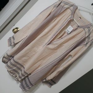 Free people oversized plaid top NWT